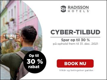 Op til 30% på Radisson Hotels med Black Friday rabatkode