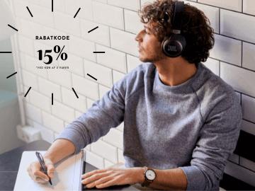 Rabatkode JBL: 15% på hovedtelefoner og øretelefoner